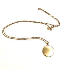 LOFT Gold medallion pendant necklace